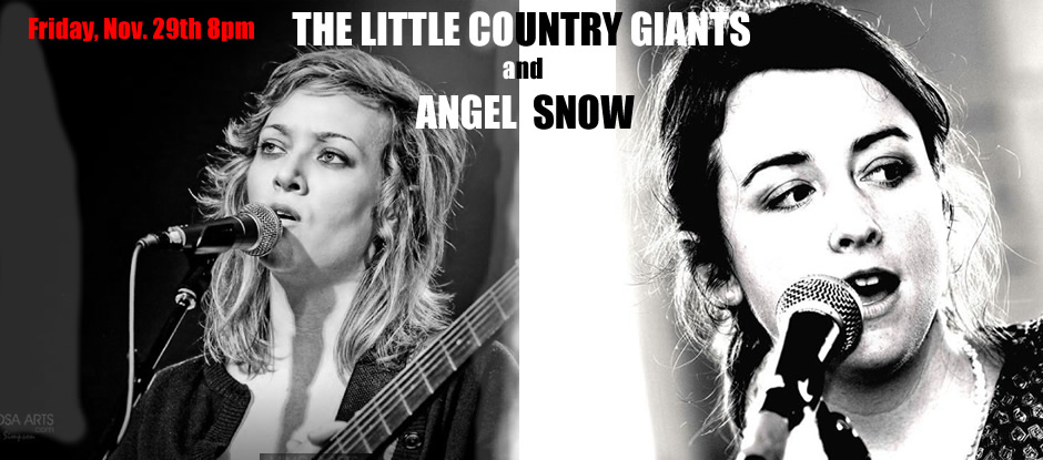 Little Country Giants with Angel Snow Nov. 29th Barking LegsTheater website banner (940px.)