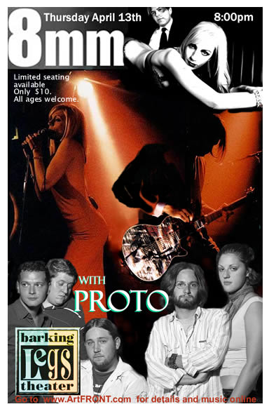 Chattanooga based Progresive rock group PROTO opens for 8mm